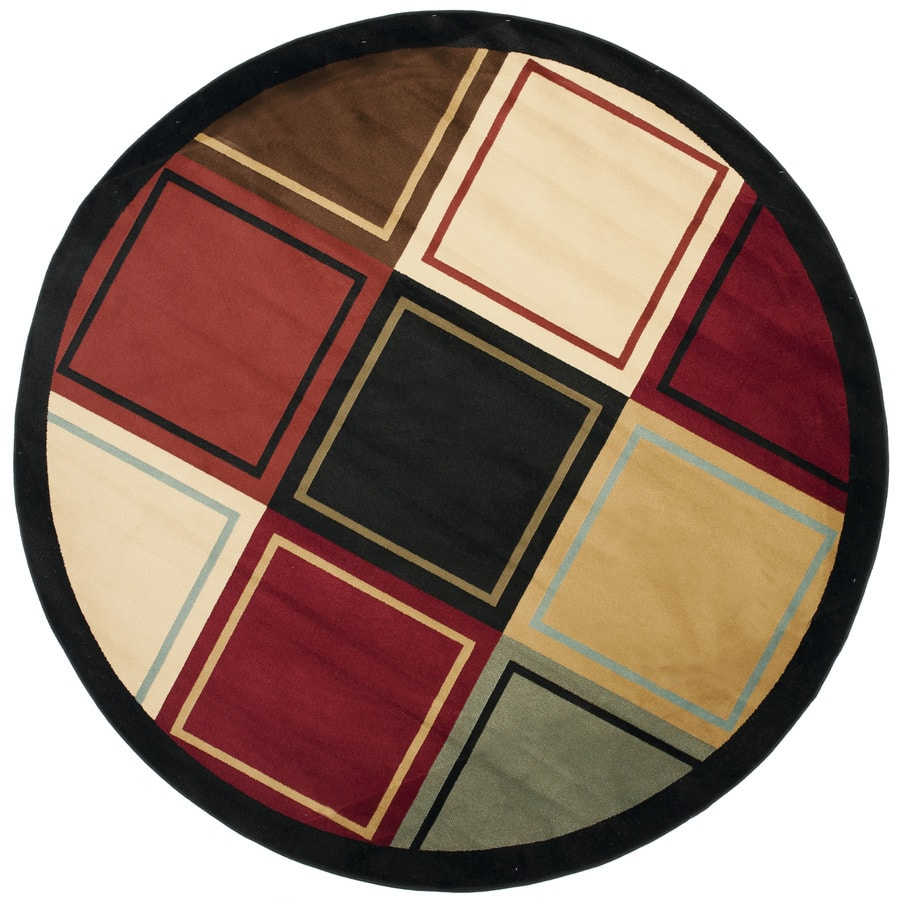 Safavieh Porcello Mia Multi Round Indoor Machine-made Area Rug (Common: 7 x 7; Actual: 7-ft W x 7-ft L x 7-ft Dia)