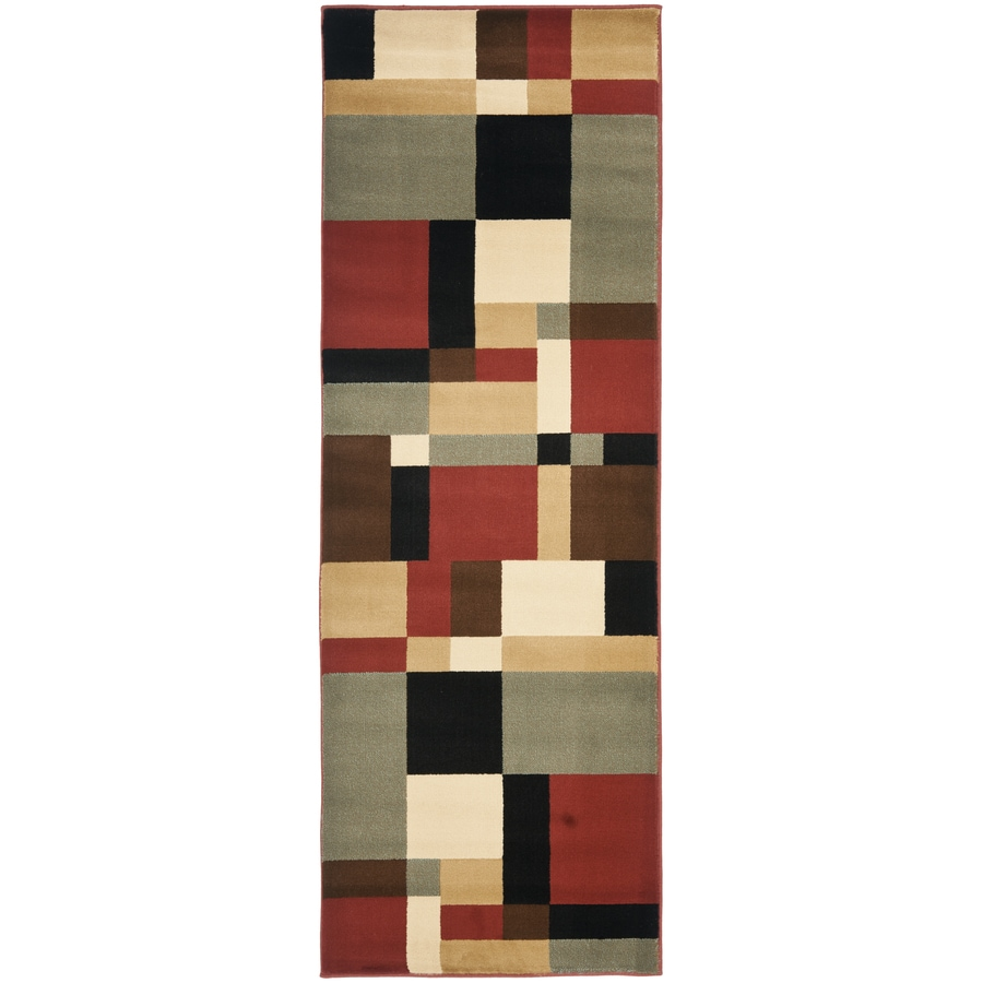 Safavieh Porcello-Box Black Indoor Runner (Common: 2 x 7; Actual: 2.3-ft W x 6.6-ft L)
