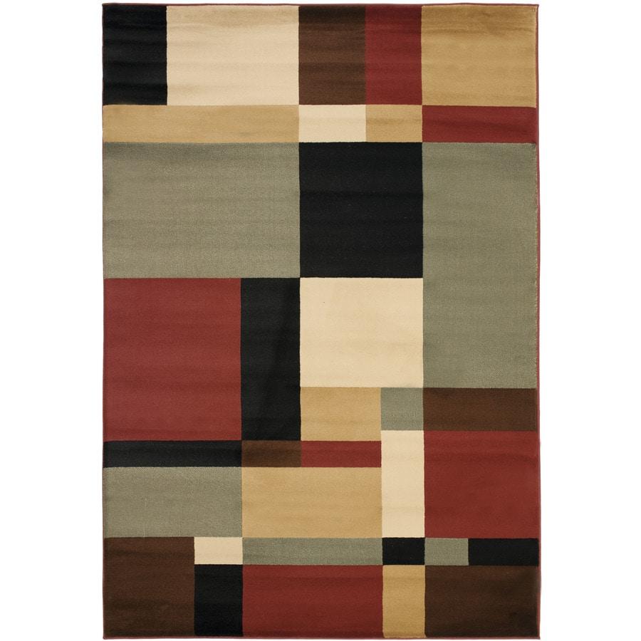 Safavieh Porcello Black and Multicolor Rectangular Indoor Machine-Made Area Rug (Common: 4 x 6; Actual: 48-in W x 67-in L x 0.42-ft Dia)