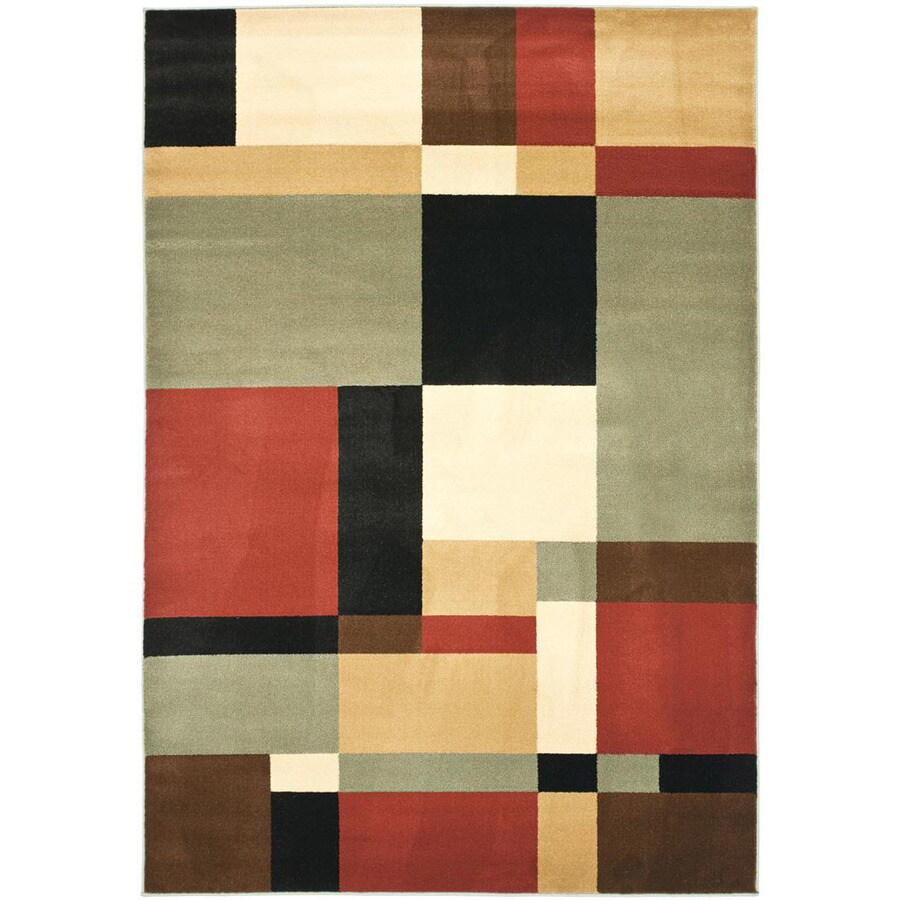 Safavieh Porcello-Box Black/Multi Rectangular Indoor Machine-made Area Rug (Common: 6 x 9; Actual: 6.583-ft W x 9.5-ft L)