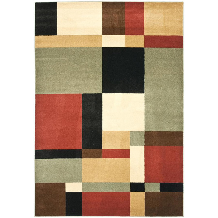 Safavieh Porcello-Box Black Indoor Area Rug (Common: 8 x 11; Actual: 8-ft W x 11.2-ft L)