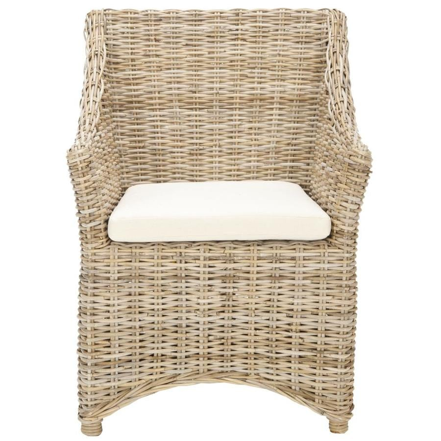 Safavieh Ventura Coastal Brown/White Washed Accent Chair
