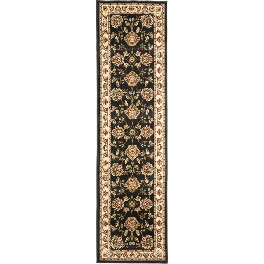 Safavieh Lyndhurst Sultanabad Black/Ivory Indoor Oriental Runner (Common: 2 x 16; Actual: 2.25-ft W x 16-ft L)