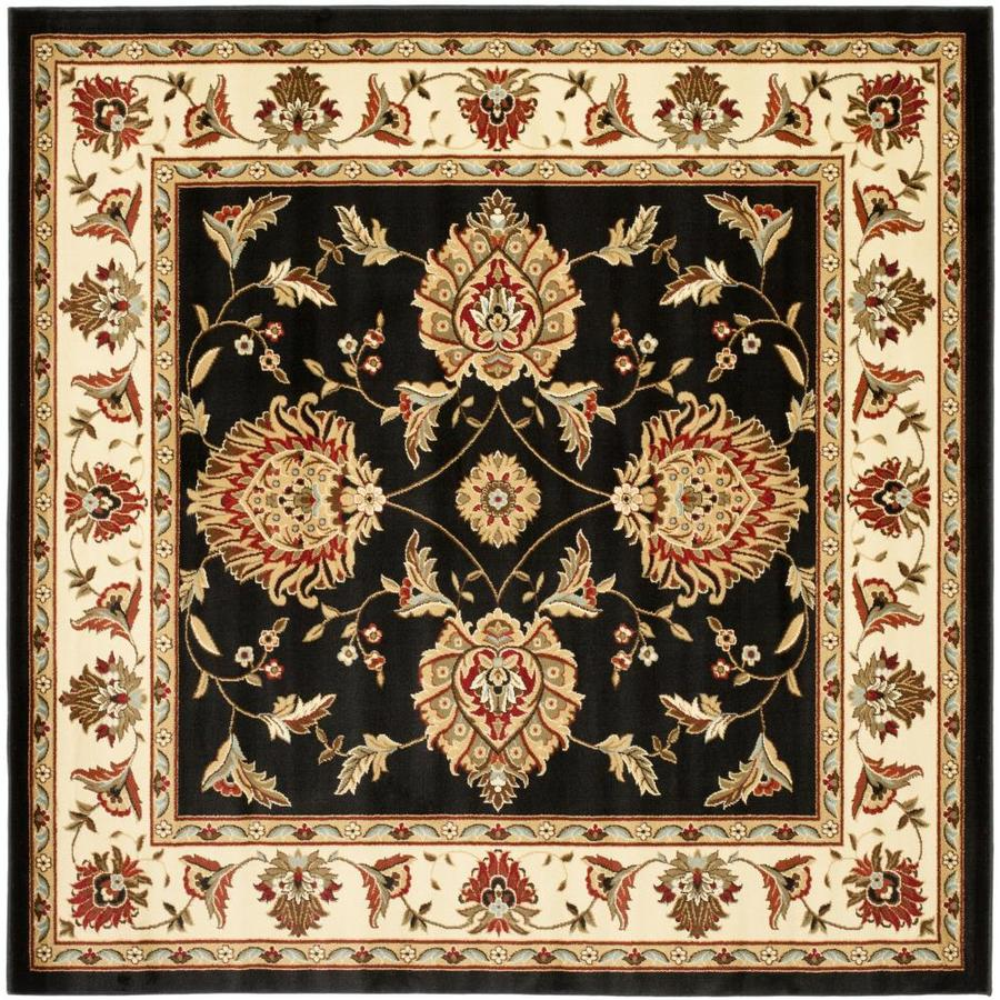 Safavieh Lyndhurst Sultanabad Black/Ivory Square Indoor Machine-made Oriental Area Rug (Common: 6 x 6; Actual: 6.583-ft W x 6.583-ft L)