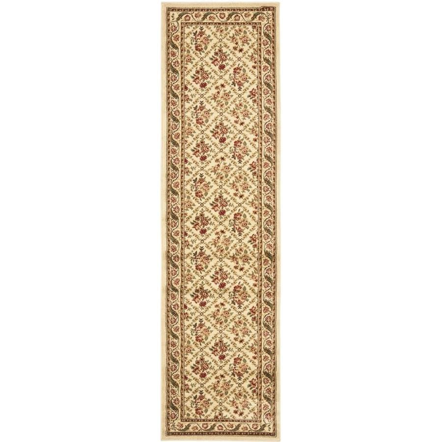 Safavieh Lyndhurst Floral Lattice 2 X 16 Ivory Ivory Indoor Floral Botanical Oriental Runner In The Rugs Department At Lowes Com