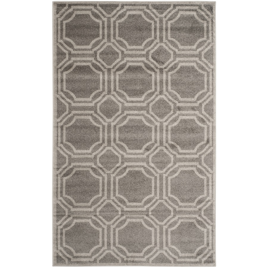 Safavieh Amherst Mosaic Gray/Light Gray Rectangular Indoor/Outdoor Machine-Made Moroccan Area Rug (Common: 4 x 6; Actual: 4-ft W x 6-ft L)
