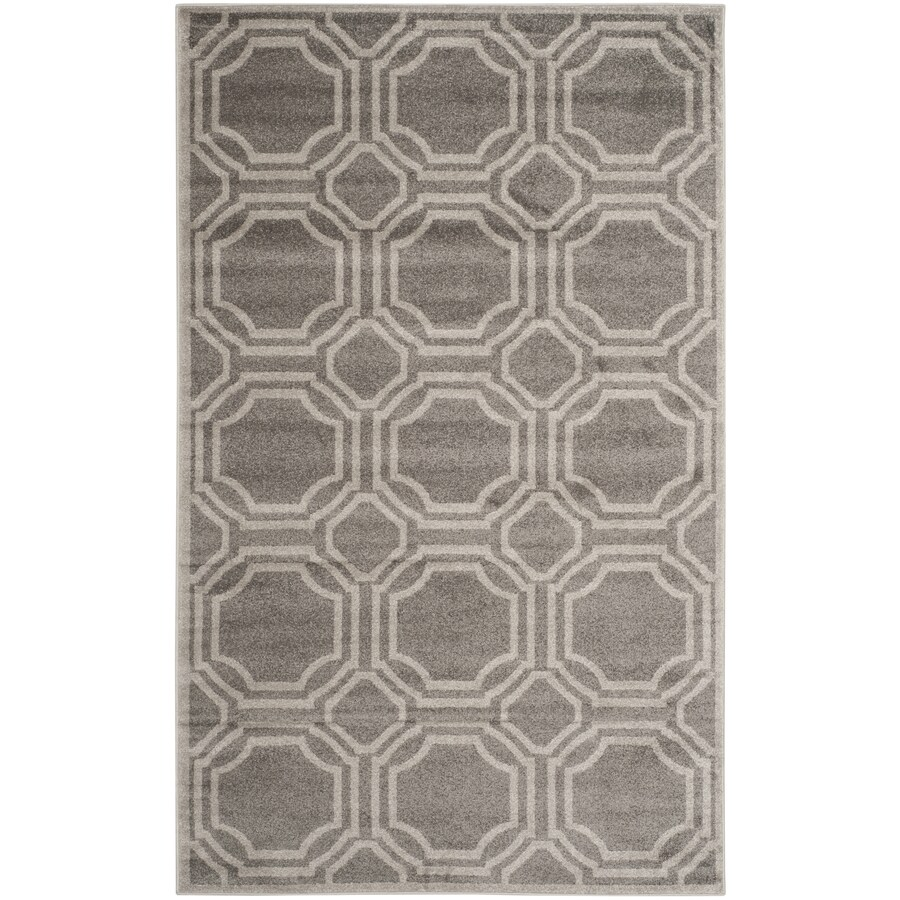 Safavieh Amherst Mosaic Gray/Light Gray Indoor/Outdoor Moroccan Area Rug (Common: 5 x 8; Actual: 5-ft W x 8-ft L)