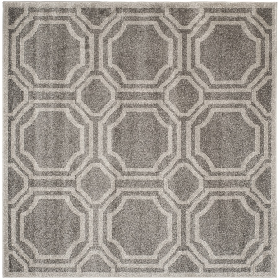 Safavieh Amherst Mosaic Gray Light Square Indoor Outdoor Moroccan Area Rug Common