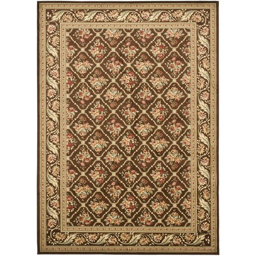Safavieh Lyndhurst Floral Lattice Brown/Brown Rectangular Indoor Machine-made Oriental Area Rug (Common: 6 x 6; Actual: 6.583-ft W x 9.5-ft L)