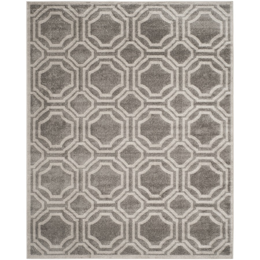 Safavieh Amherst Mosaic Gray/Light Gray Indoor/Outdoor Moroccan Area Rug (Common: 9 x 12; Actual: 9-ft W x 12-ft L)