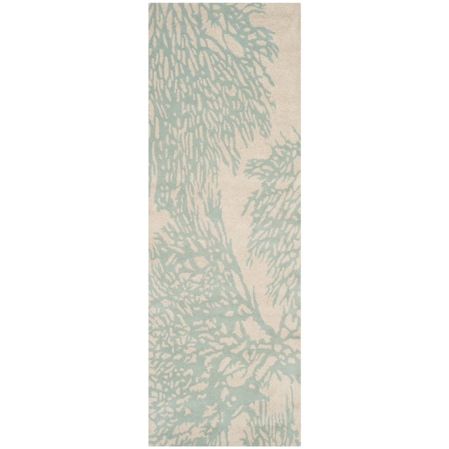 Safavieh Bella Beige/Blue Rectangular Indoor Tufted Runner (Common: 2 x 7; Actual: 2.25-ft W x 7-ft L)