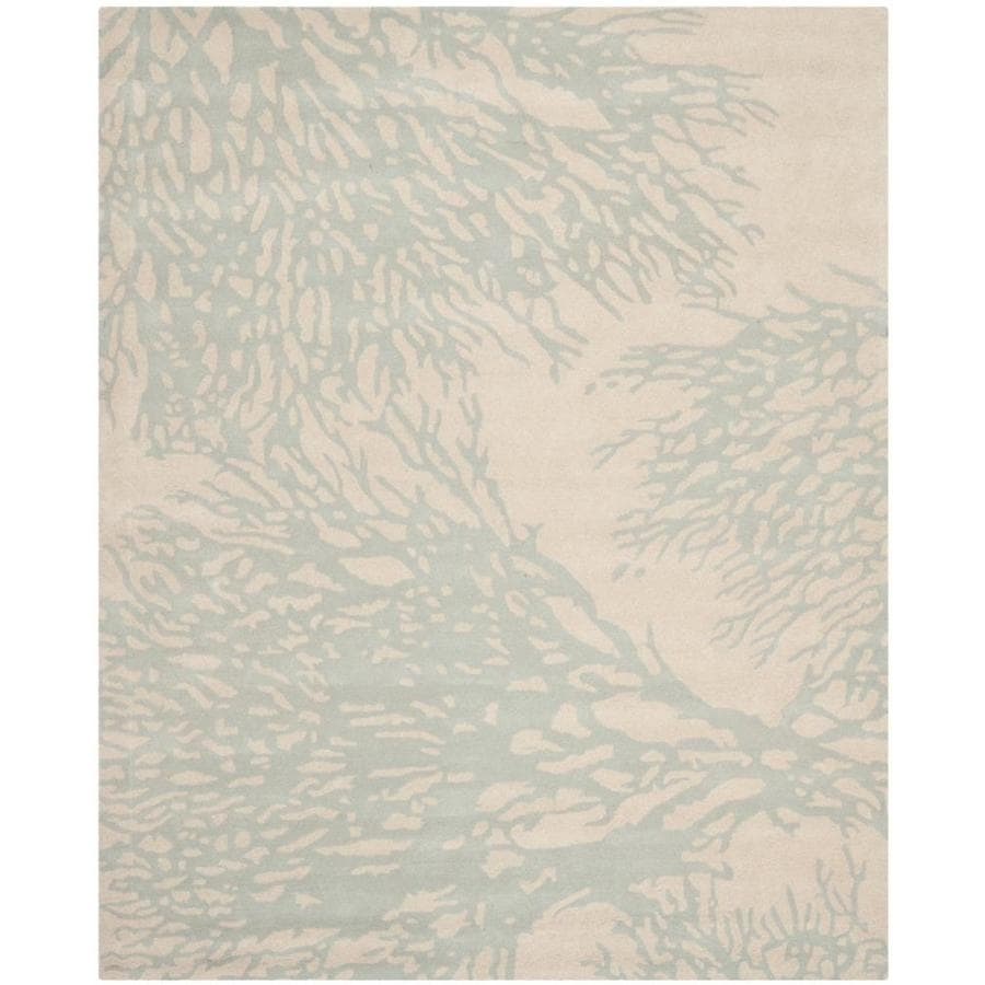 Safavieh Bella Beige/Blue Rectangular Indoor Handcrafted Nature Area Rug (Common: 8 x 10; Actual: 8-ft W x 10-ft L)