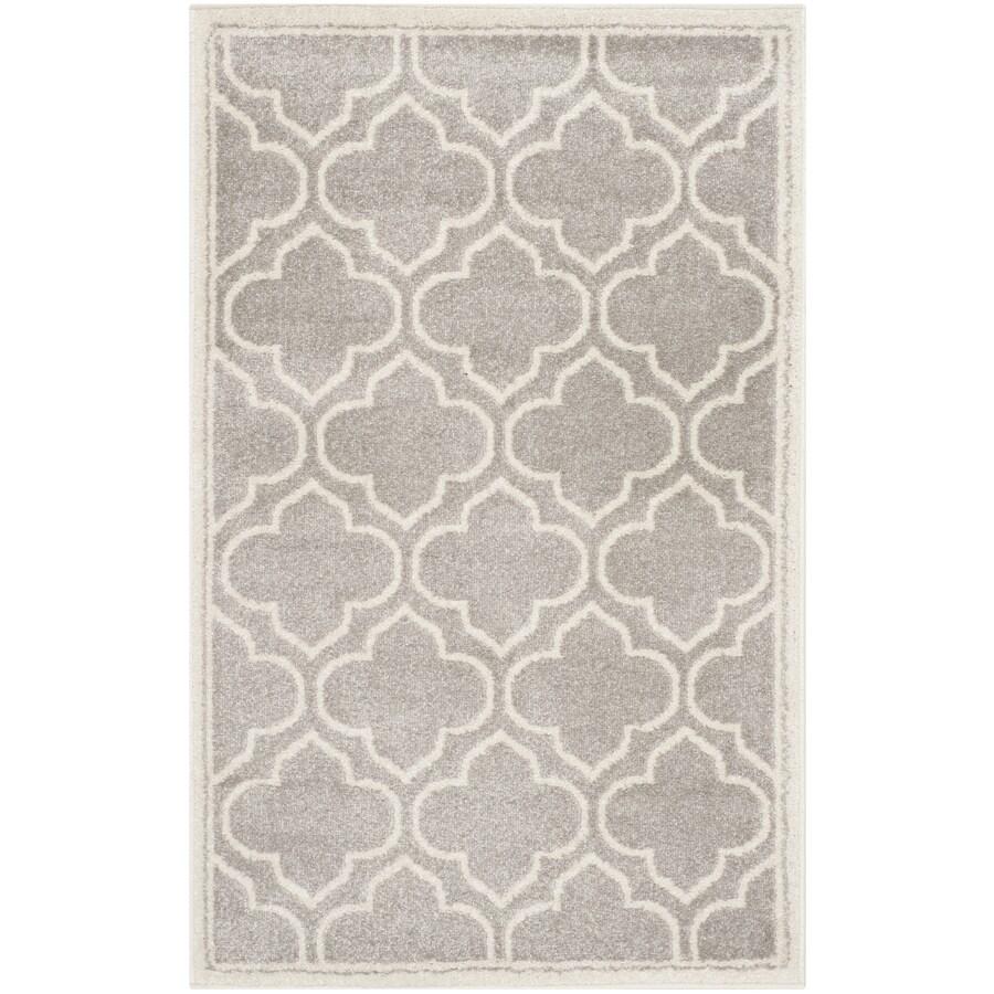 Safavieh Amherst Moroccan Gray/Ivory Indoor/Outdoor Moroccan Throw Rug (Common: 2 x 4; Actual: 2.5-ft W x 4-ft L)