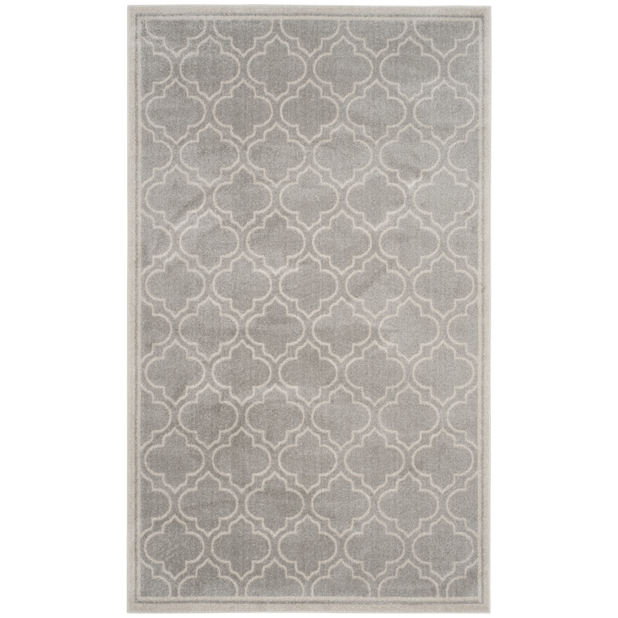 Safavieh Amherst Moroccan Gray/Ivory Rectangular Indoor/Outdoor Machine-Made Moroccan Area Rug (Common: 5 x 8; Actual: 5-ft W x 8-ft L)