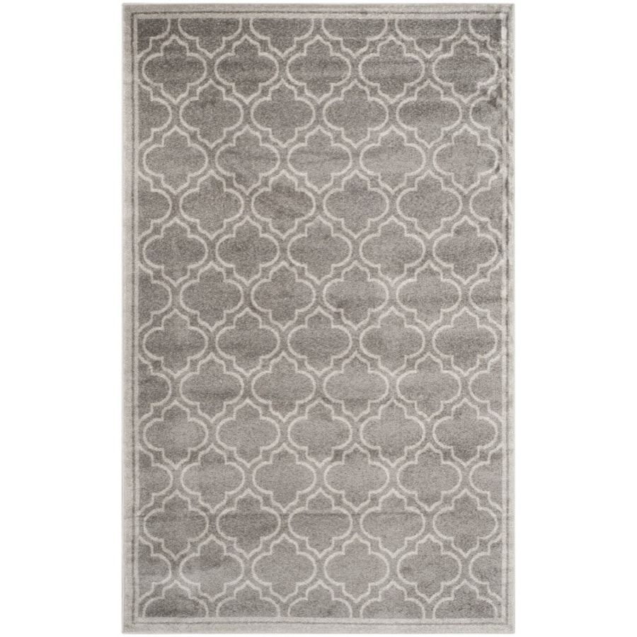 Safavieh Amherst Moroccan Gray/Light Gray Rectangular Indoor/Outdoor Machine-Made Moroccan Area Rug (Common: 5 x 8; Actual: 5-ft W x 8-ft L)