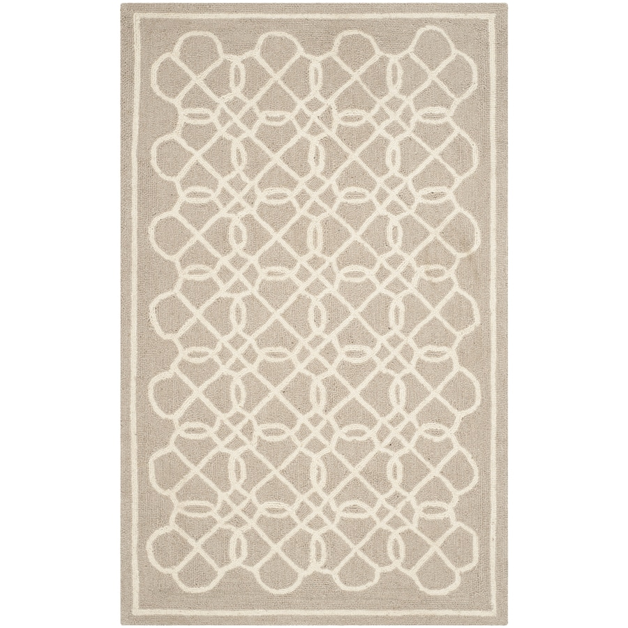 Safavieh Chelsea Tan and Ivory Rectangular Indoor Hand-Hooked Lodge Throw Rug (Common: 2 x 4; Actual: 2.5-ft W x 4-ft L)