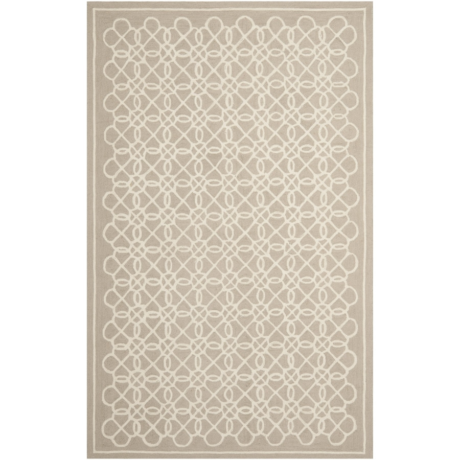 Safavieh Chelsea Kensington Tan and Ivory Rectangular Indoor Handcrafted Lodge Area Rug (Common: 5 x 8; Actual: 5.25-ft W x 8.25-ft L)