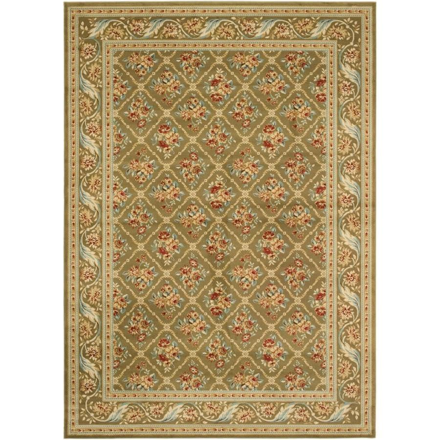 Safavieh Lyndhurst Floral Lattice Green/Green Rectangular Indoor Machine-made Oriental Area Rug (Common: 6 x 6; Actual: 6.583-ft W x 9.5-ft L)