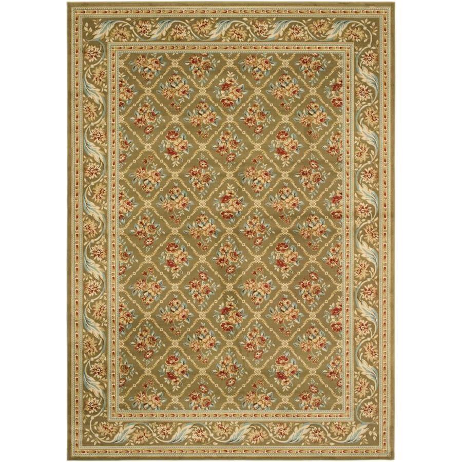 Safavieh Lyndhurst Floral Lattice Green/Green Indoor Oriental Area Rug (Common: 7 x 9; Actual: 6.7-ft W x 9.5-ft L)