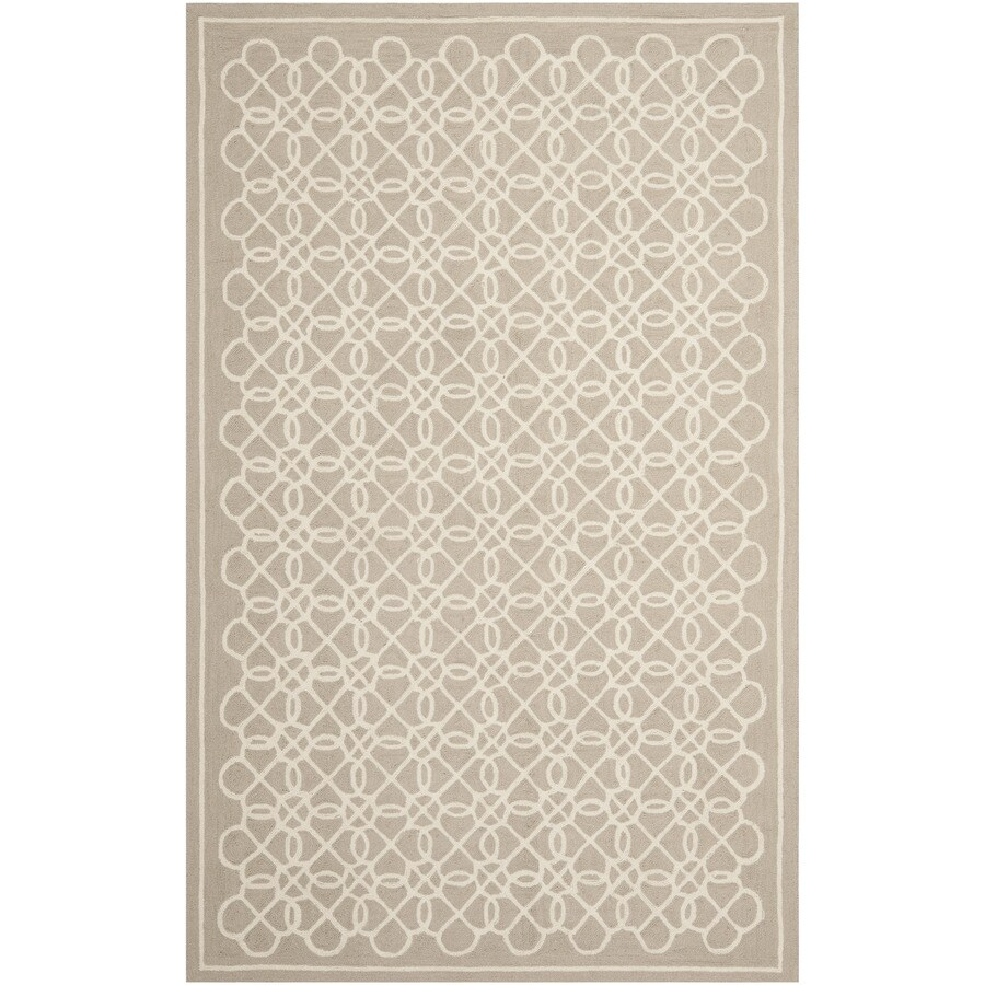 Safavieh Chelsea Kensington Tan And Ivory Indoor Handcrafted Lodge Area Rug (Common: 8 x 10; Actual: 7.75-ft W x 9.75-ft L)