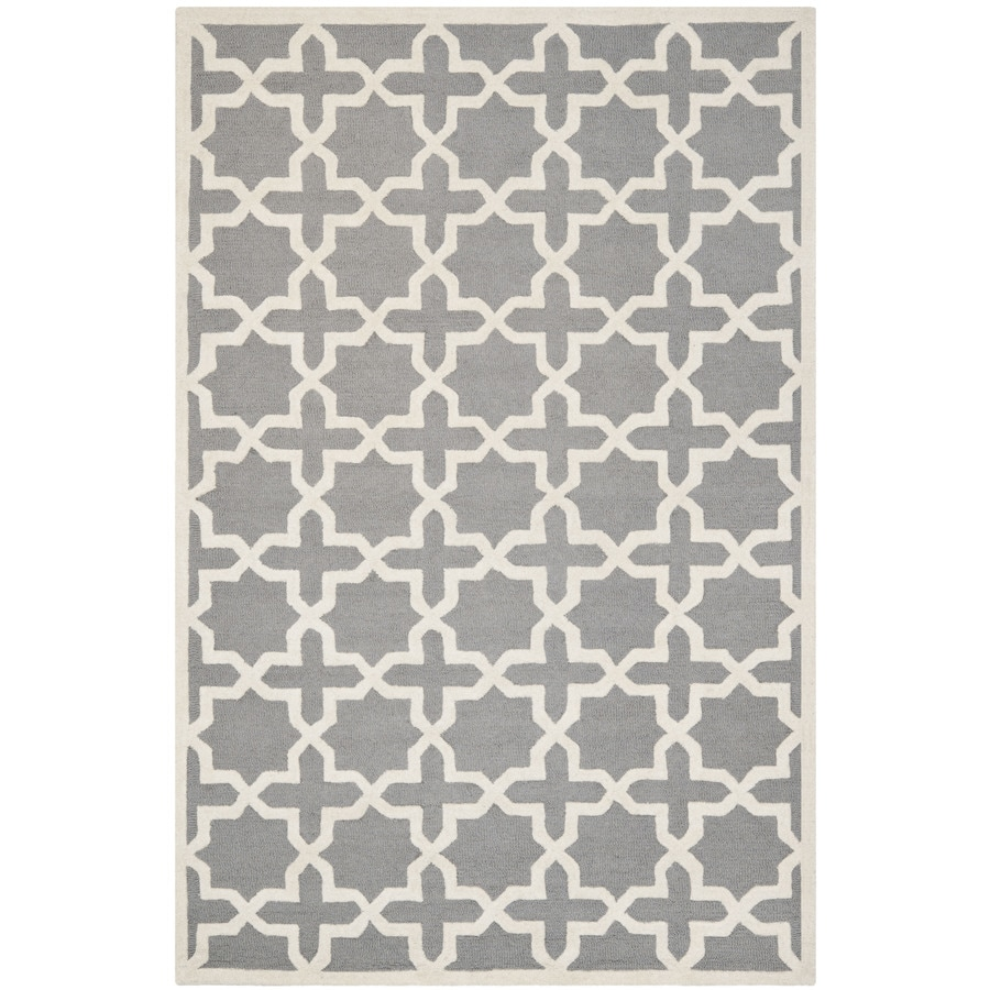 Safavieh Cambridge Rectangular Gray Transitional Tufted Wool Accent Rug (Common: 3-ft x 5-ft; Actual: 36-in x 60-in)