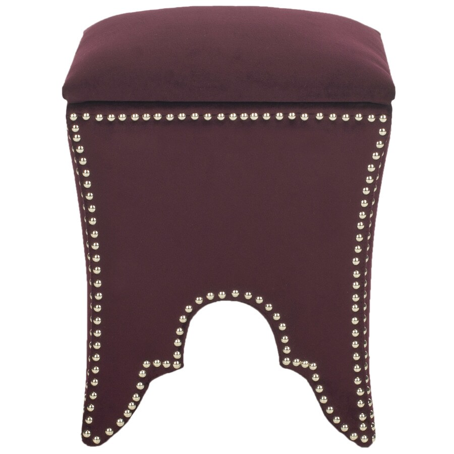 Safavieh Deidra Casual Bordeaux Storage Ottoman