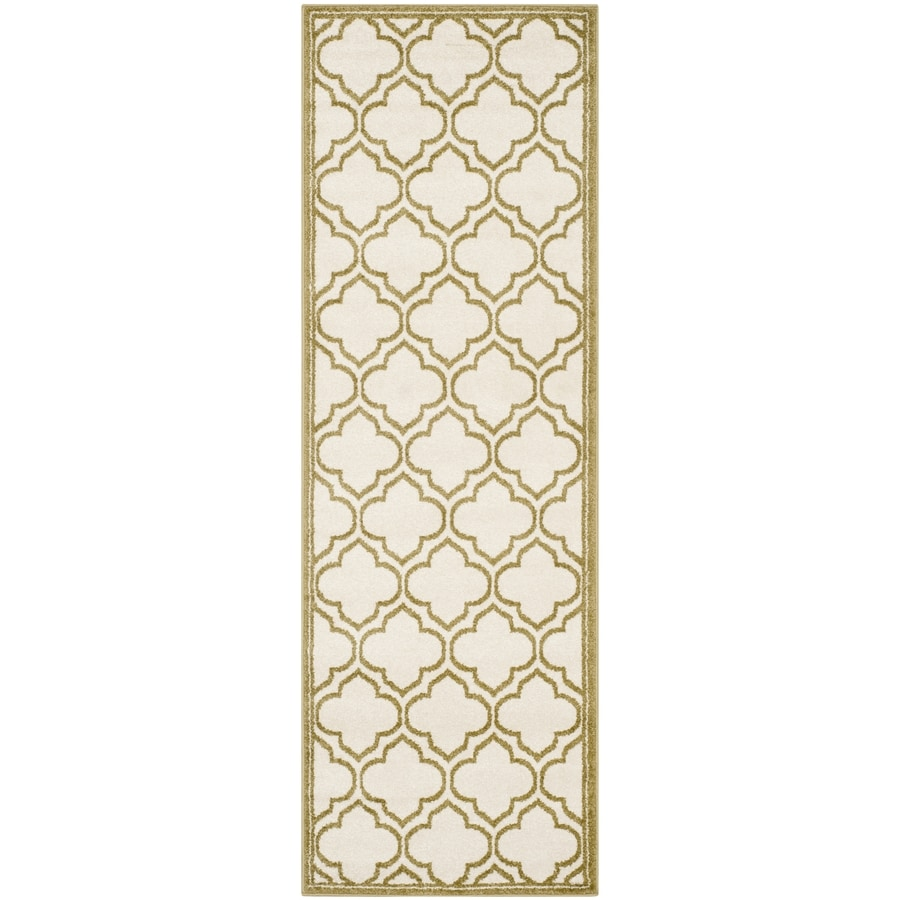 Safavieh Amherst Moroccan Ivory/Light Green Rectangular Indoor/Outdoor Machine-Made Moroccan Runner (Common: 2 x 7; Actual: 2.25-ft W x 7-ft L)