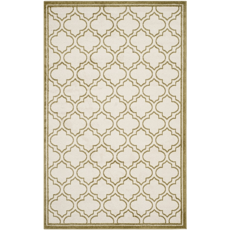 Safavieh Amherst Moroccan Ivory/Light Green Rectangular Indoor/Outdoor Machine-Made Moroccan Area Rug (Common: 4 x 6; Actual: 4-ft W x 6-ft L)