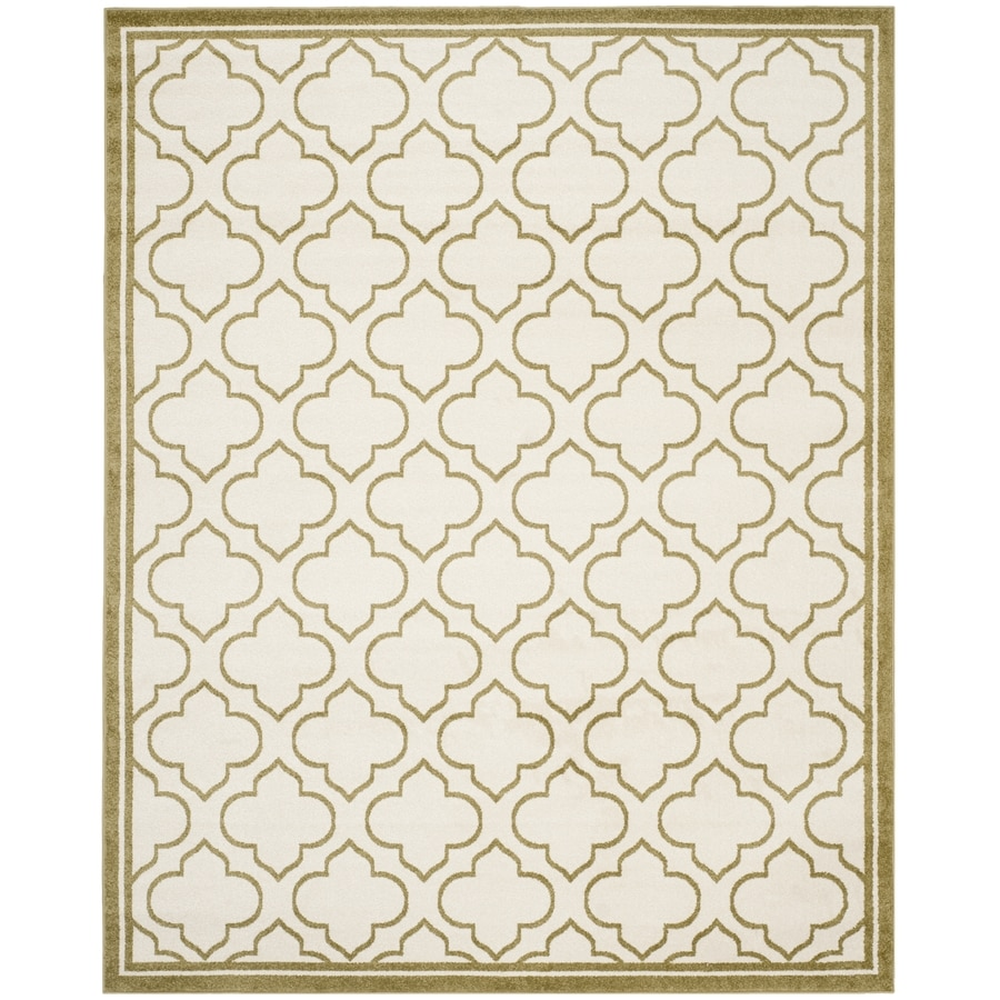 Safavieh Amherst Ivory/Light Green Rectangular Indoor/Outdoor Machine-Made Moroccan Area Rug (Common: 9 x 12; Actual: 9-ft W x 12-ft L)