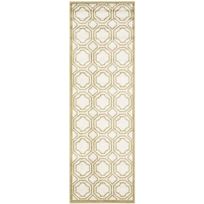 Safavieh Amherst Mosaic 2 X 7 Ivory/Light Green Indoor