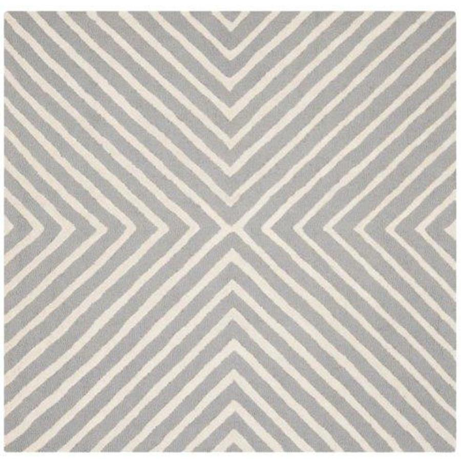 Safavieh Cambridge Silver/Ivory Square Indoor Tufted Moroccan Area Rug (Common: 6 x 6; Actual: 6-ft W x 6-ft L x 6-ft dia)