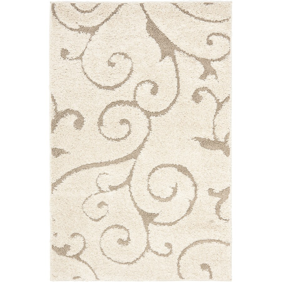 Shop Safavieh Florida Scroll Shag Cream Beige Indoor