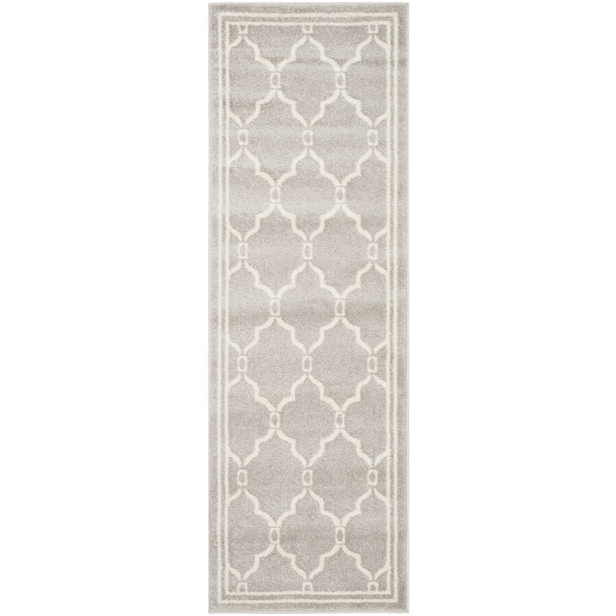 Safavieh Amherst Marion Gray/Ivory Indoor/Outdoor Moroccan Runner (Common: 2 x 7; Actual: 2.3-ft W x 7-ft L)