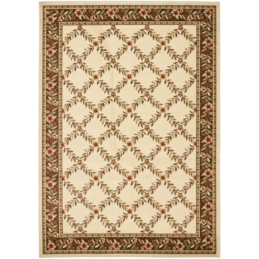 Safavieh Lyndhurst Open Floral Ivory/Brown Indoor Oriental Area Rug (Common: 7 x 9; Actual: 6.7-ft W x 9.5-ft L)
