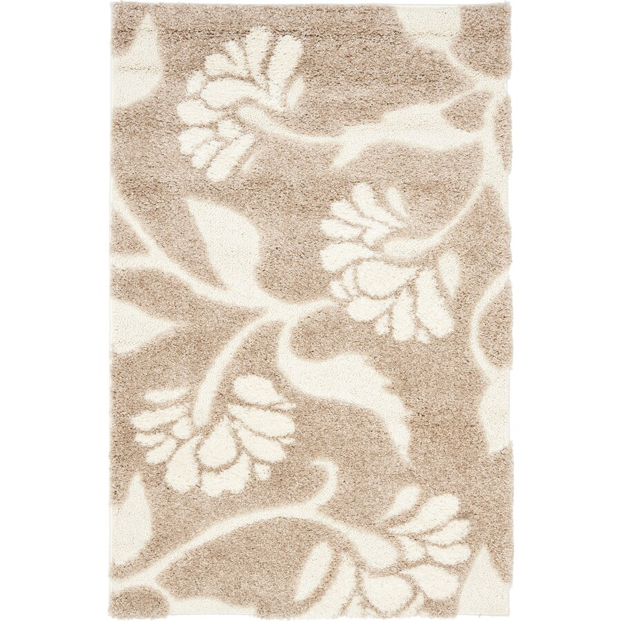 World Rug Gallery Florida Turquoise Area Rug Reviews: Safavieh Koi Shag Beige/Cream Indoor Area Rug (Common: 9 X