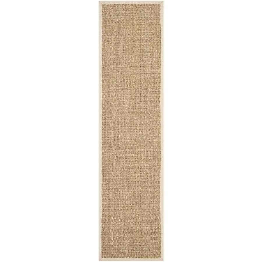 Safavieh Natural Fiber Hampton Natural/Beige Indoor Coastal Runner (Common: 2 x 8; Actual: 2.5-ft W x 8-ft L)