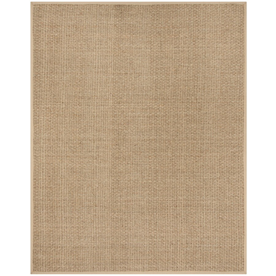 Safavieh Natural Fiber Hampton Natural/Beige Indoor Coastal Area Rug (Common: 9 x 12; Actual: 9-ft W x 12-ft L)