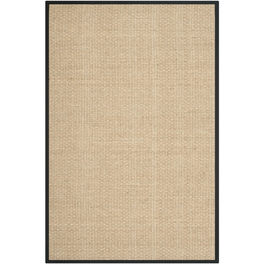 Safavieh Natural Fiber Hampton Natural/Black Indoor Coastal Area Rug (Common: 6 x 9; Actual: 6-ft W x 9-ft L)