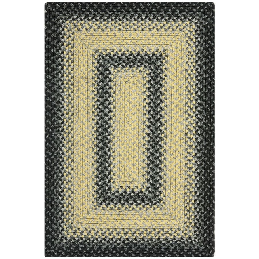 Safavieh Braided Higham Black/Gray Indoor Handcrafted Coastal Throw Rug (Common: 3 x 5; Actual: 2.5-ft W x 5-ft L)