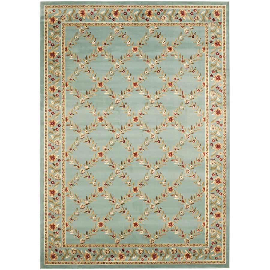 Safavieh Lyndhurst Open Floral Blue/Blue Rectangular Indoor Machine-made Oriental Area Rug (Common: 6 x 6; Actual: 6.583-ft W x 9.5-ft L)