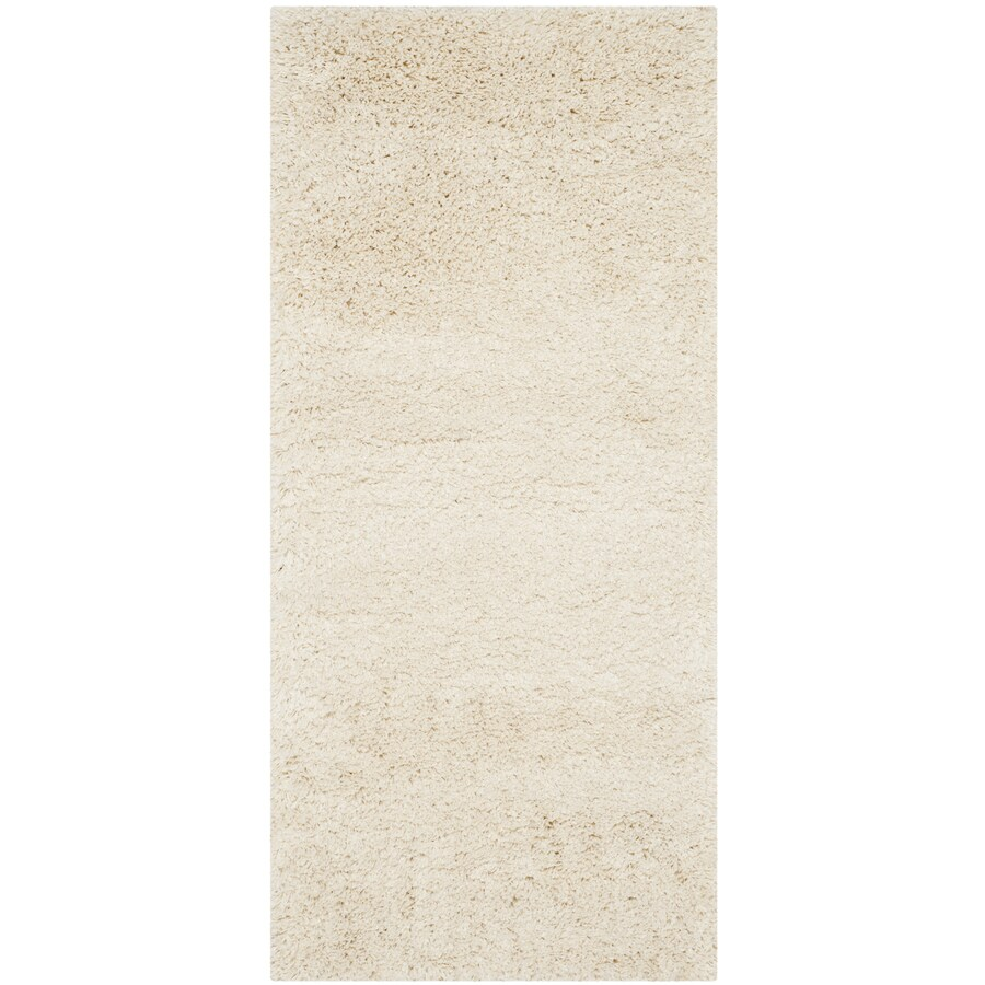 Safavieh California Shag Ivory Rectangular Indoor Machine-Made Runner (Common: 2 x 7; Actual: 2.25-ft W x 7-ft L)