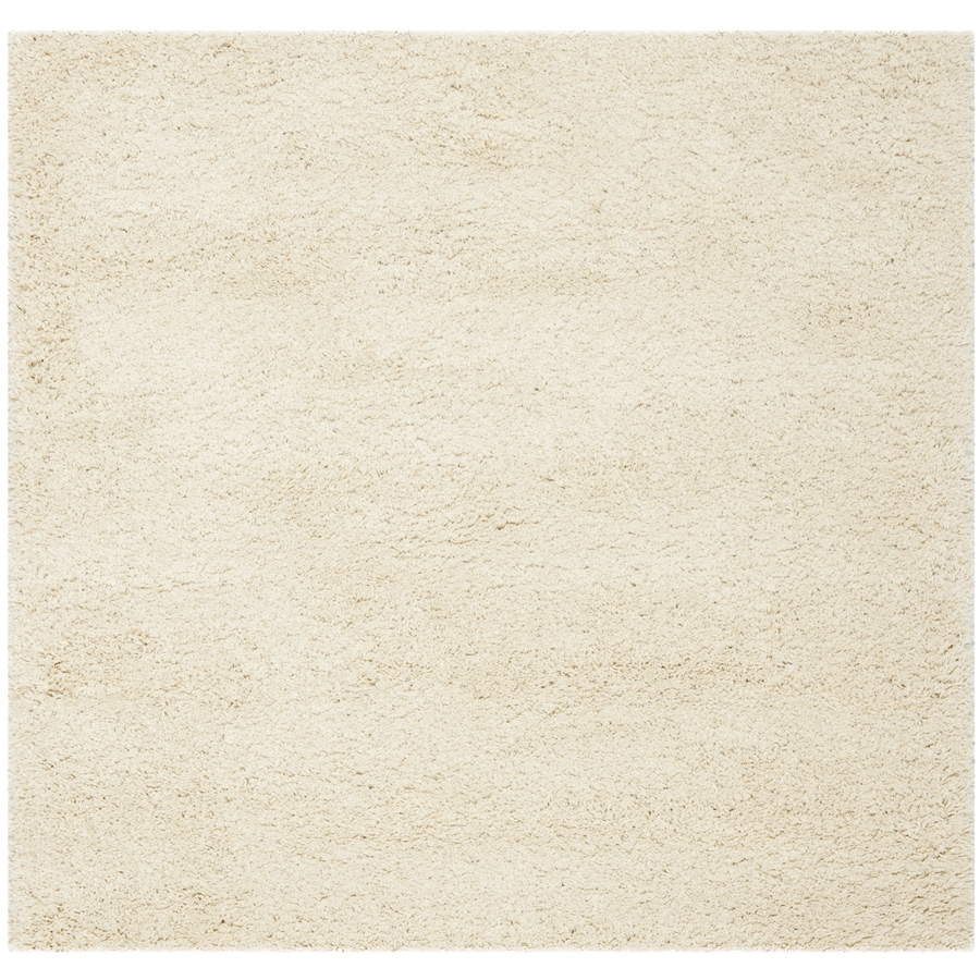 Safavieh California Shag Ivory Square Indoor Machine-made Area Rug (Common: 6 x 6; Actual: 6.667-ft W x 6.667-ft L)