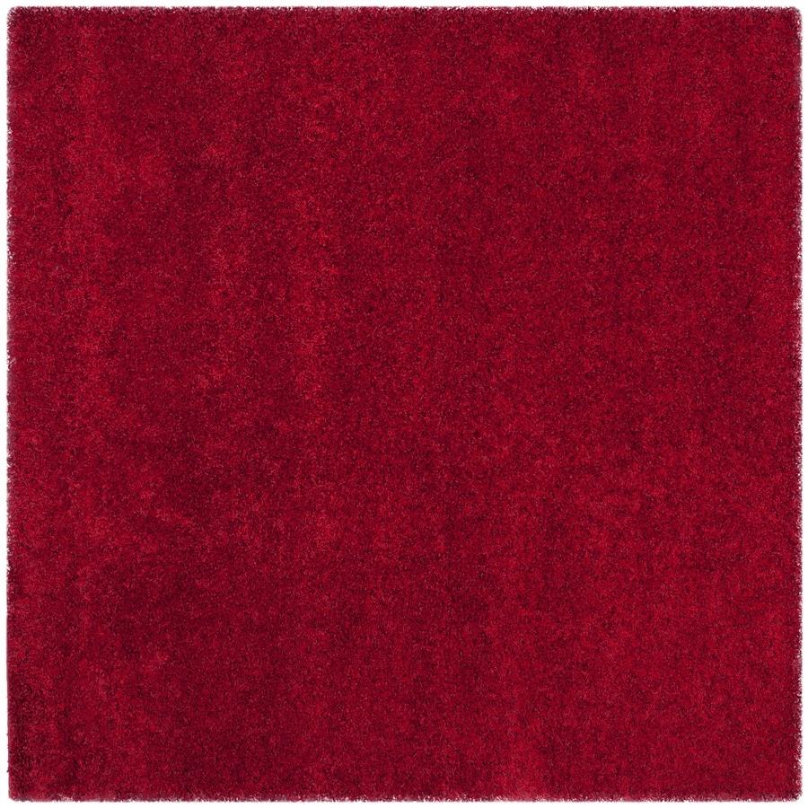 Safavieh California Shag Red Square Indoor Area Rug (Common: 7 x 7; Actual: 6.7-ft W x 6.7-ft L)