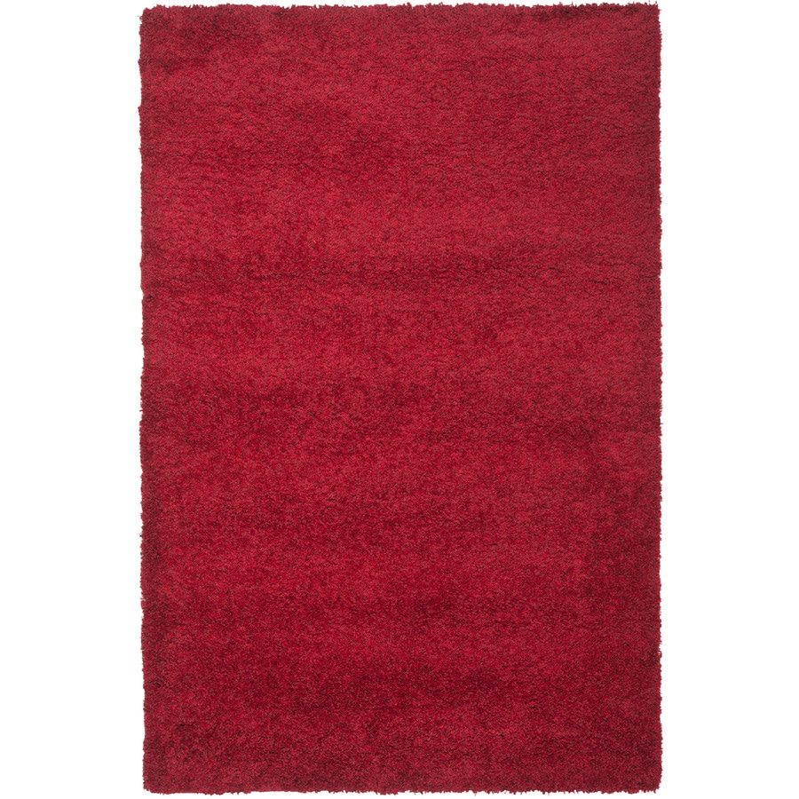 Safavieh California Shag Red Rectangular Indoor Machine-Made Area Rug (Common: 8 x 12; Actual: 8.5-ft W x 12-ft L)