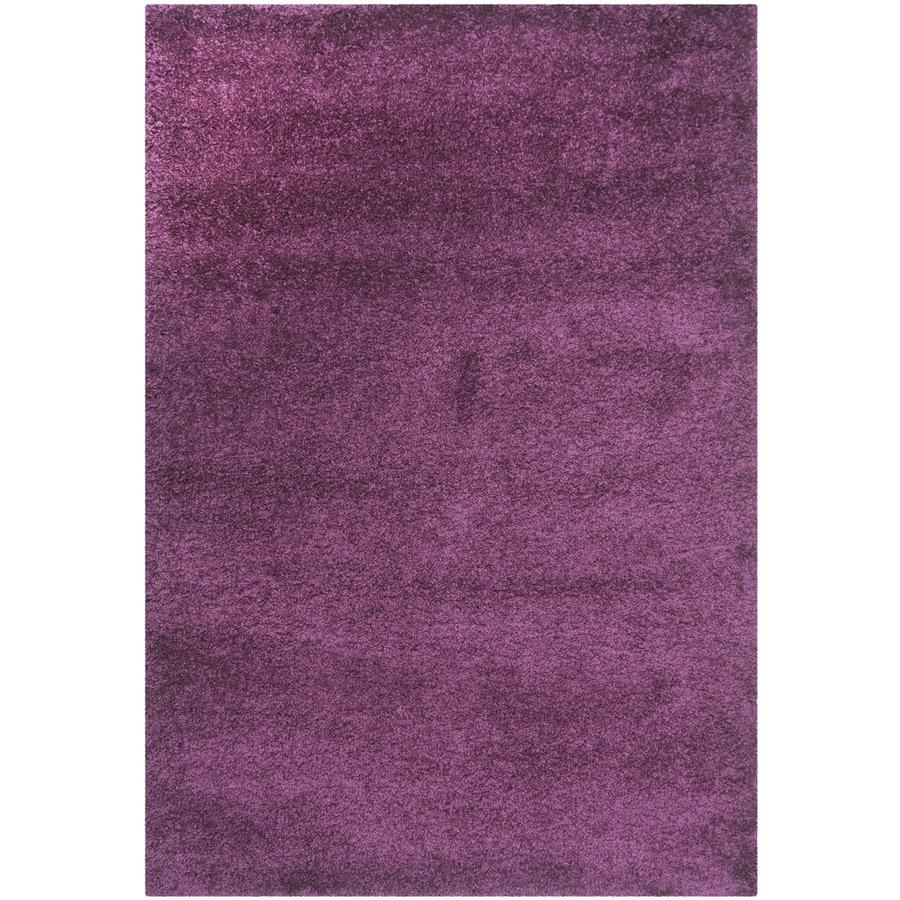 Safavieh California Shag Purple Rectangular Indoor Machine-Made Throw Rug (Common: 3 x 5; Actual: W x L x 0-ft Dia)