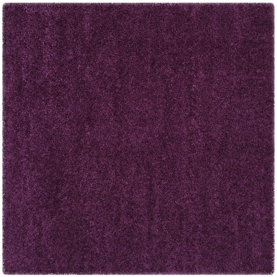 Safavieh California Shag Purple Square Indoor Machine-made Area Rug (Common: 6 x 6; Actual: 6.667-ft W x 6.667-ft L)