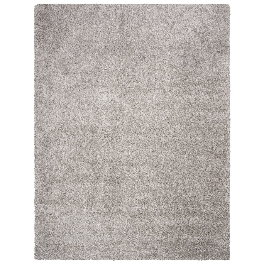 Safavieh California Shag Silver Indoor Area Rug (Common: 7 x 9; Actual: 6.7-ft W x 9.5-ft L)