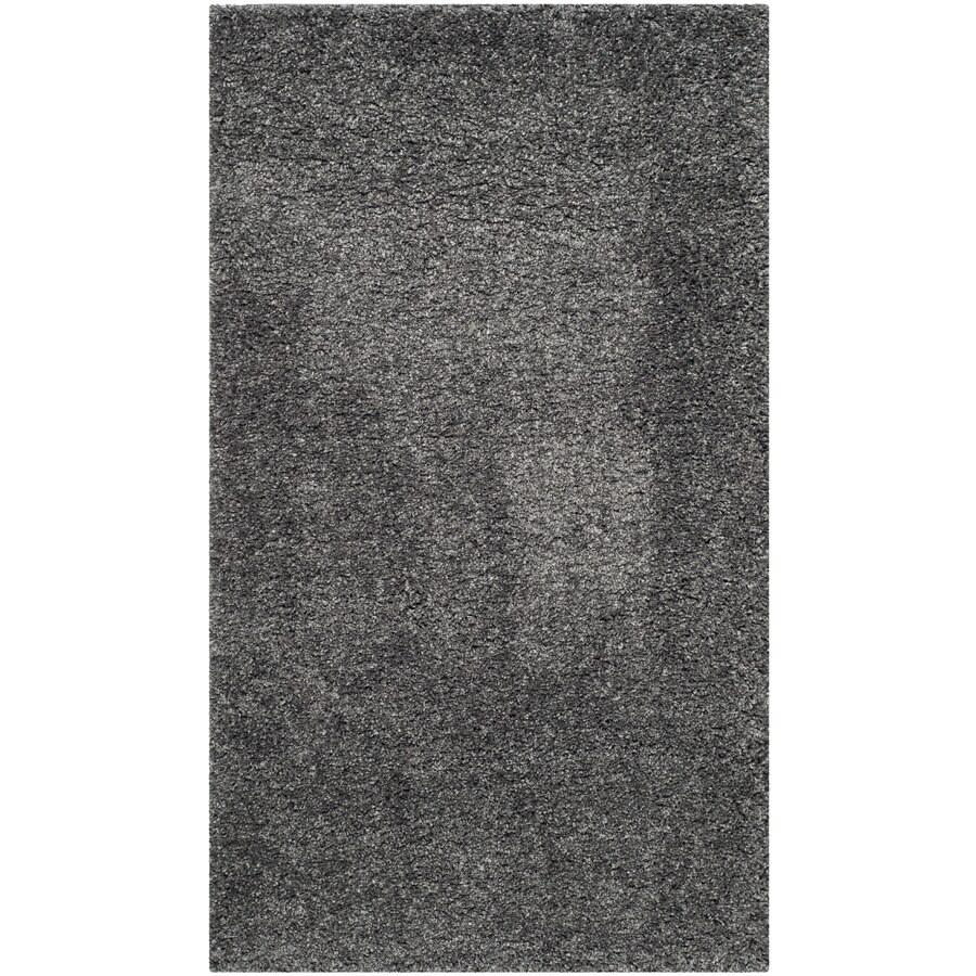 Safavieh California Shag Dark Gray Rectangular Indoor Machine-Made Throw Rug (Common: 3 x 5; Actual: W x L x 0-ft Dia)