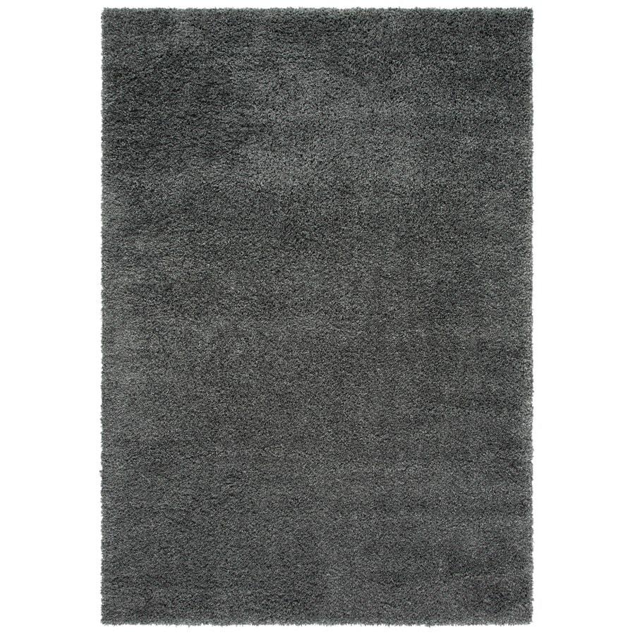 Safavieh California Shag Dark Gray Rectangular Indoor Machine-made Area Rug (Common: 6 x 9; Actual: 6.667-ft W x 9.5-ft L)