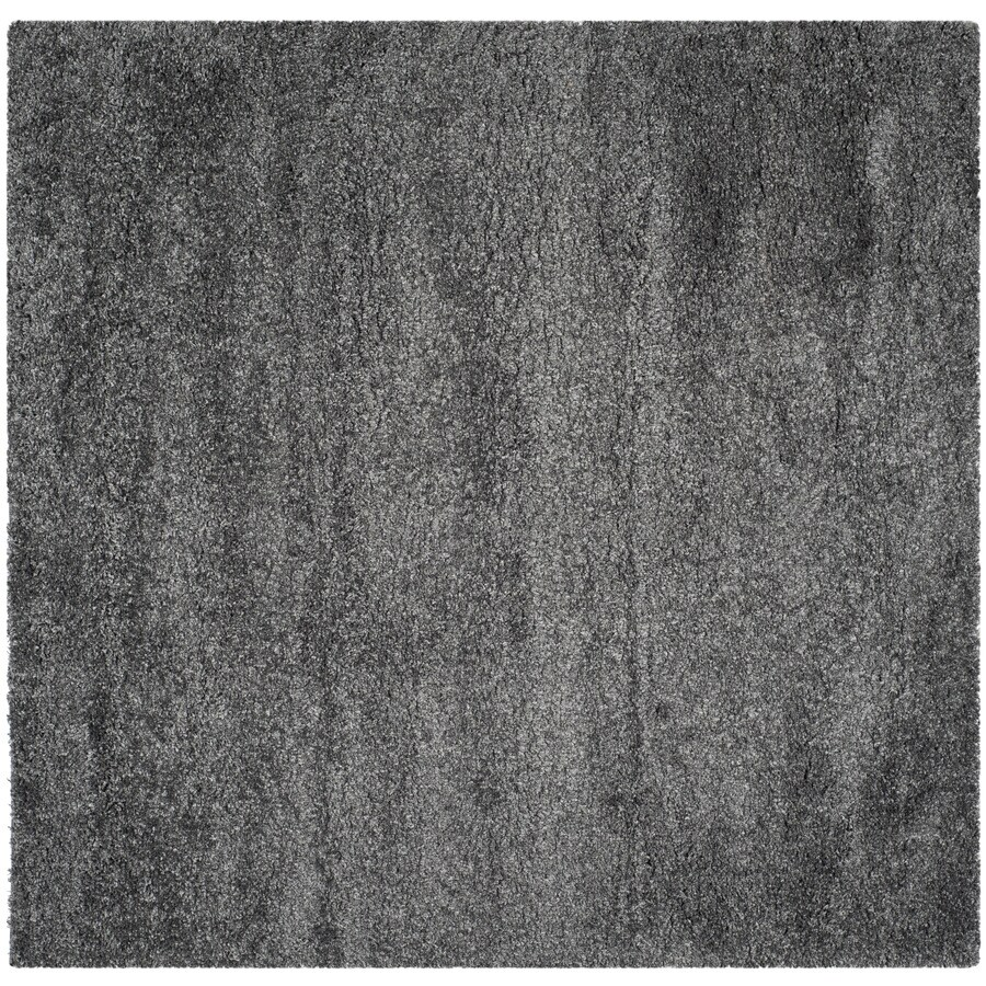 Safavieh California Shag Dark Gray Square Indoor Machine-Made Area Rug (Common: 6 x 6; Actual: 6.667-ft W x 6.667-ft L)